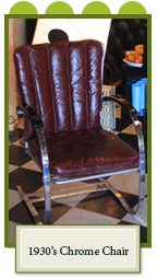 Chrome and Leather Chair