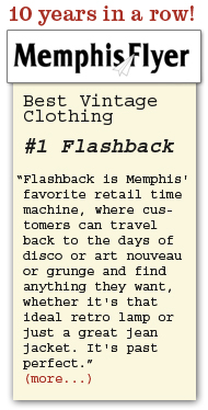 #1 in vintage clothing in Memphis - ten years in a row!